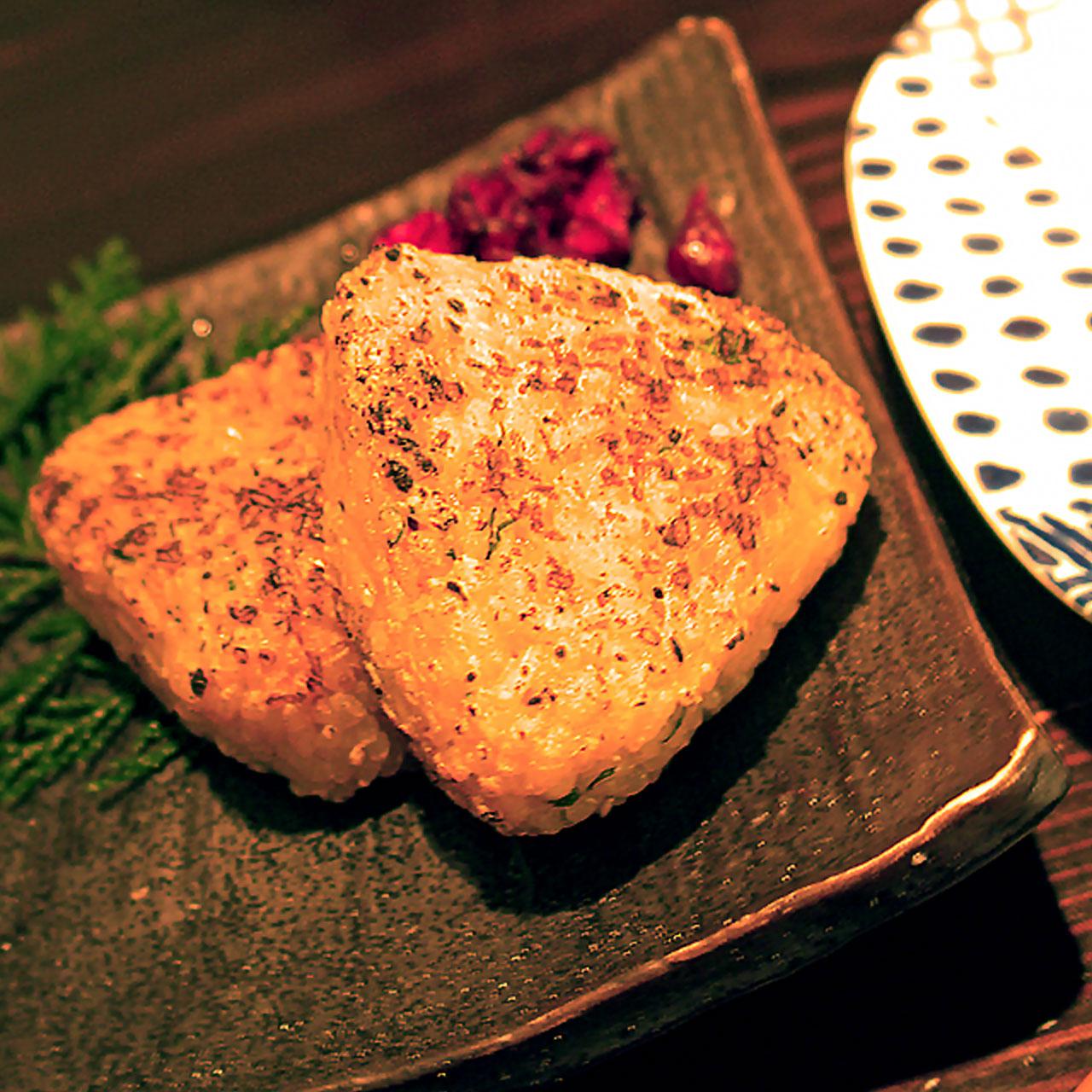 日式烤飯團
